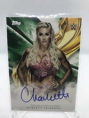 WWE Topps Undisputed 2019 Charlotte Flair 15/50 Auto UK SELLER