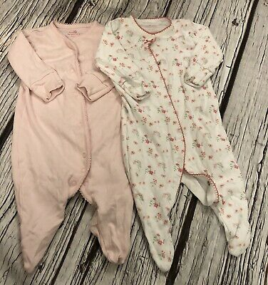 0-3 Months Next Ditsy Floral Sleepsuits X 2 Hardly Worn