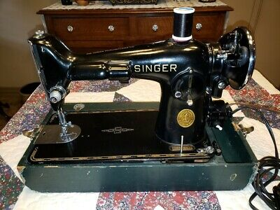 Antique 1936 Singer 201-2 Electric Sewing Machine AE311533 Electric Potted Motor