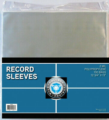 (100) Csp 33Rpm Lp Record Musuc Album Poly Sleeve Outer Cover Storage Holders