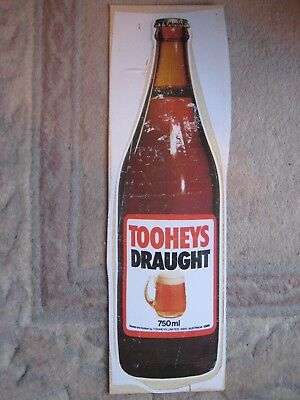 Tooheys 5 Large Vintage Window Stickers / Posters. New - Never Used.