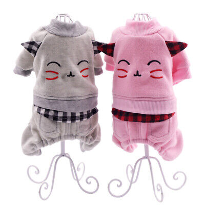 Cute Printing Pet Dog Puppy Clothes Costumes Warm Jacket Coat Apparel Christmas