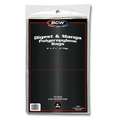 (3000) BCW READERS DIGEST or MANGA ANIME COMIC SOFT POLY STORAGE BOOK BAGS