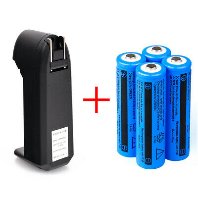 4pc UltraFire 3000mAh 18650 Battery 3.7v Li-ion Rechargeable Batteries + Charger