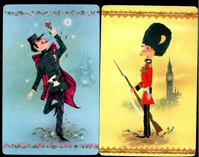 Vintage Swap Cards Military And Dancing Man  New Condition