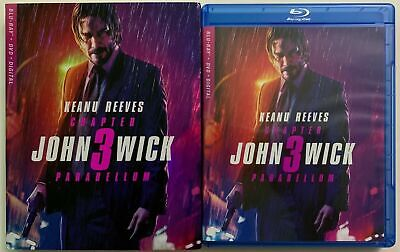 John Wick Chapter 3 Parabellum Blu Ray Dvd 2 Disc Set + Slipcover Sleeve
