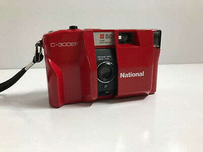 NATIONAL PANASONIC C-300F - retro 35mm film camera, fully tested & working - RED