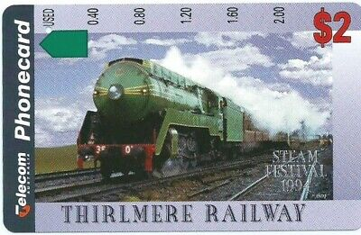 Scarce $2 Thirlmere Railway. 1 Hole Telstra Phonecard; Superior Condition