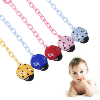 Ladybug Shape Soother Teether Strap Baby Teething Pacifier Chain Nipple Holder