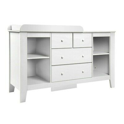 Baby Change Table with Drawers - White