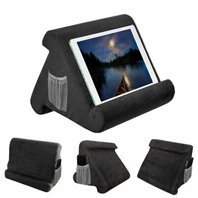 HOT Multi-Angle Soft Pillow Lap Stand For iPad Books Tablets eReaders iPhone UK