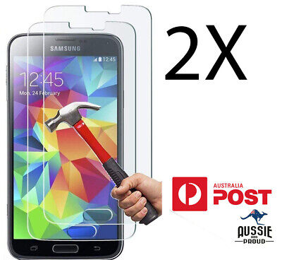 2x Premium Tempered Glass Screen Protector for Samsung Galaxy s6 s5 s4 s3 s2