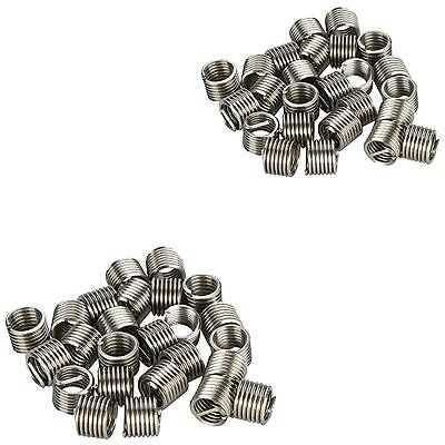 50 Piece Helicoil Type Threaded Inserts M6 X 1.0 mm - Thread Repair Coils