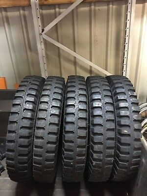 FIVE Willys Jeep M201 GPW Bar grip tyres, tubes and flaps with cheap EU postage