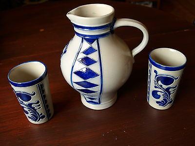 Goebel Pitcher And Two Beakers