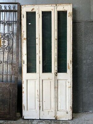 Architectural Antique Set Of Bi Fold French Doors & Shutters