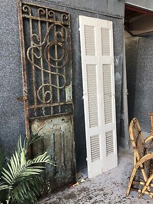 Architectural Antique Wrought Iron French Single Garden Door / Gate /Fence
