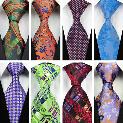 Green Blue Purple Paisley Wedding Stripe Necktie Silk Business Men's Tie COM513*