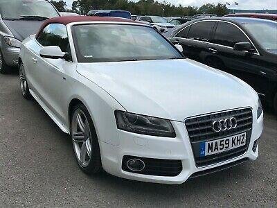 59 Audi A5 Cabriolet 2.0 Tdi S-Line S/S - 71K Miles, Leather, Alloys, P/Senses