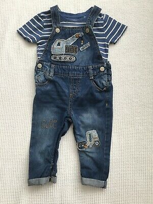 Mothercare Baby Boys 12-18 Months Denim Dungarees Combined Postage