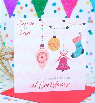 Personalised Handmade Christmas Card, Friends, Daughter, Son, Mum & Dad, Sister