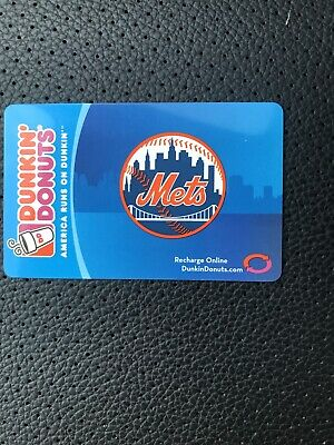 Dunkin' Donuts Gift Card 2008 Mets .  No cash value NEW never used