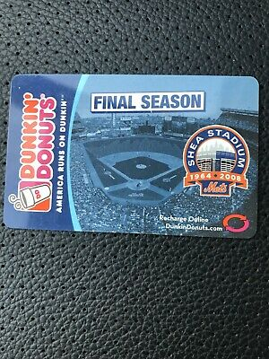 Dunkin' Donuts Gift Card 2008 Mets Final Season.  No cash value NEW