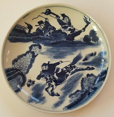 Superb Large Antique Chinese Porcelain Blue&White Guangxu Mark&Period Plate/Dish