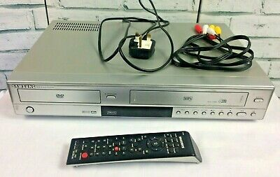Samsung DVD & VCR Video Recorder Combi Player Silver with Remote Control