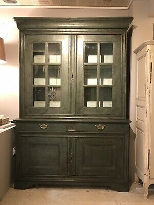 Antique Circa 1820 Bookcase 2 Dr cupboard Glazed Bookcase FREE DELIVERY WITH BIN