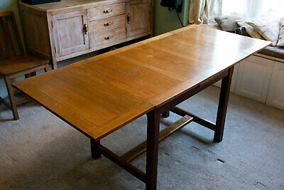Heals of London Antique Limed Oak Dining Table  - Arts and Crafts