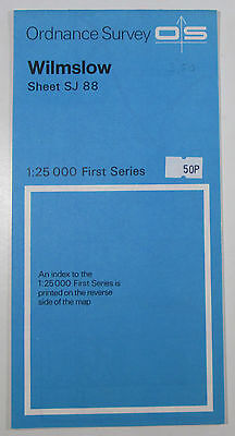 1974 Old Vintage OS Ordnance Survey 1:25000 First Series Map SJ 88 Wilmslow