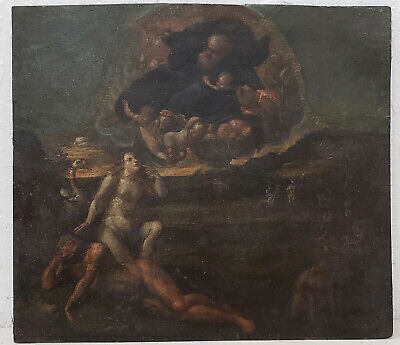 """Outstanding 17th to 18th Century Old Master """"Adam & Eve"""" On Copper"""