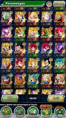 Account Dokkan battle global  LR New Gohan SSJ2 + Cell LR And Other Lr With Dupe