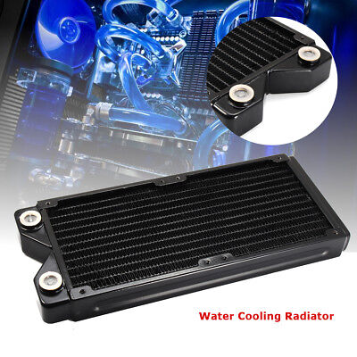 240mm Computer Radiator Water Cooling Cooler for CPU LED Heatsink G1/4 12 Tubes