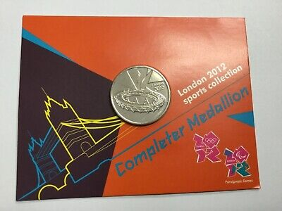 GREAT BRITAIN LONDON 2012 OLYMPIC 50 pence coin COMPLETER MEDALLION