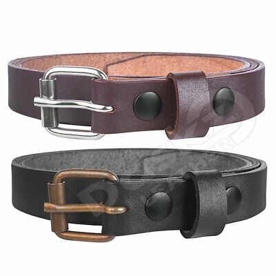 "LEATHER BELT FOR KIDS (100% GENUINE) Black / Brown 18'' to 28"" waist sizes"