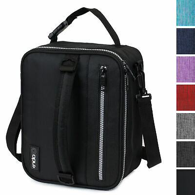 Insulated Lunch Bag Small Lunch Box For Work Office School Men Women Kids Black