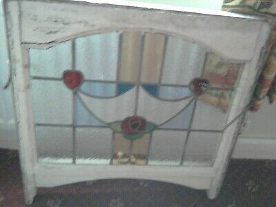 Traditional Victorian design stained glass decorative panel C Mackintosh rose