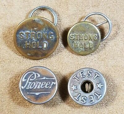 Lot of Vintage Overall Buttons Strong Hold - Pioneer - Test