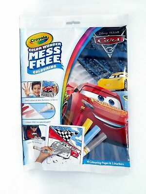 CARS 3 Disney Crayola Color Colour Wonder Mess Free Colouring Set Markers