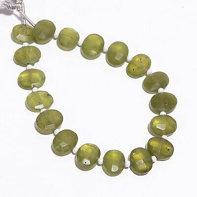 """47.25 Ct Natural Vesuvianite Gemstone Oval Faceted Beads Strand 9X7 mm 6"""" PB5779"""