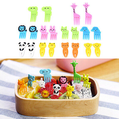 10pcs Animal Farm cartoon fruit fork signs resin fruits toothpick for Kids ot