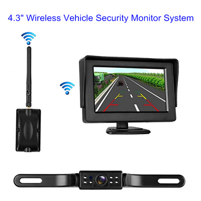 "4.3"" LCD TFT Wireless Car Rearview Display System + Night Vision Backup Camera"