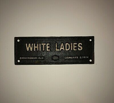 Cast Iron Segregation Whites Only Sign