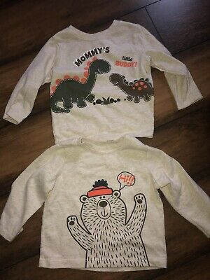 Infant Boys Long Sleeve Top Size 6-9 Months Lot Of 2