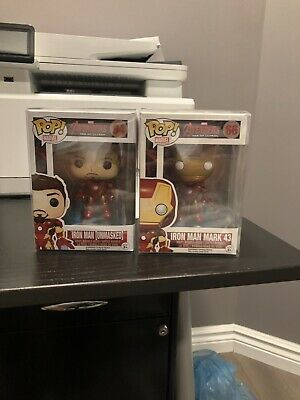 Funko Pop! Avenger Age Of Ultron Iron Man & Unmasked Iron Man