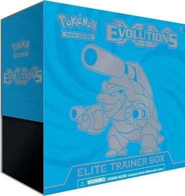 Mega Blastoise POKEMON XY Evolutions Elite Trainer Box - Factory Sealed