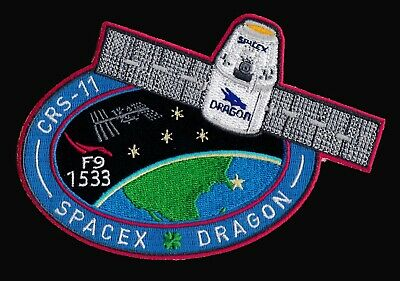 CRS-11 - SPACEX ORIGINAL Employee Numbered FALCON-9 DRAGON F-9 Mission PATCH