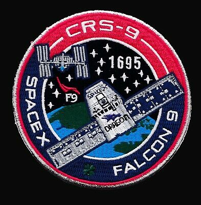 CRS-9 - SPACEX ORIGINAL Employee Numbered FALCON-9 DRAGON F-9 Mission PATCH